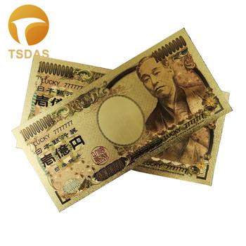 24K pozłacane japonia banknoty pozłacane 100 milionów prezentów dekoracji wnętrz tanie i dobre opinie TSDAS Ludzi Z tworzywa sztucznego Europa gold banknote gold foil + pet Souvenir home decoration 100pcs opp bag