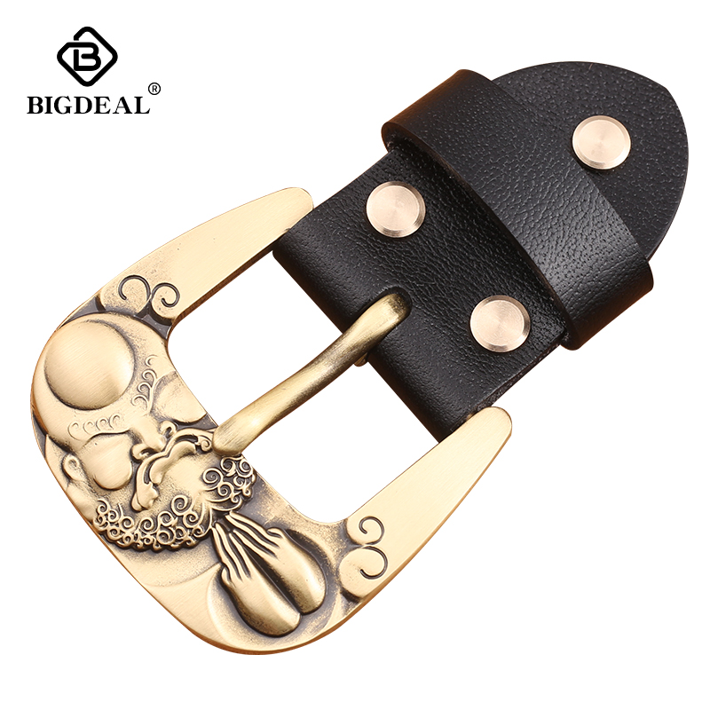 Solid Brass 40mm Pin Belt Buckle Men's Metal Clip Buckle DIY Leather Craft Jeans Accessories Supply For 3.8cm-3.9cm Wide Belt