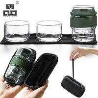 TANGPIN coffee and tea sets glass teapot teacup portable travel tea set drinkware