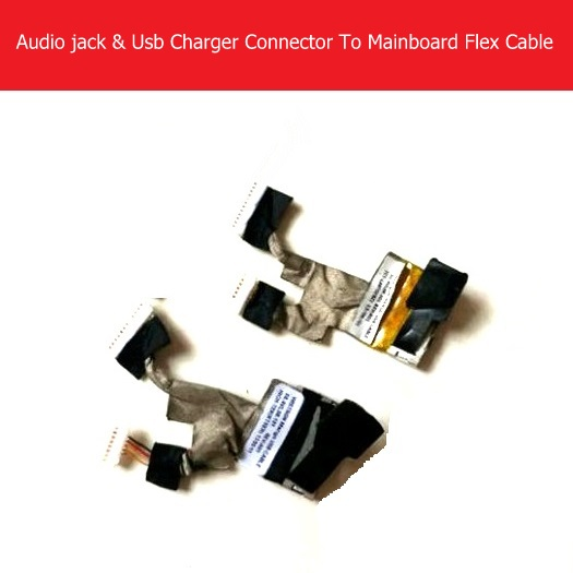 Geniune Audio jack & USB Charger To Mainboard Flex Cable For Acer Iconia A1 A1-810 A1-811 Motherboard Connector Flex Cable Parts original usb charging dock charger port flex cable for iphone 7 high quality headphone audio jack connector flex cable