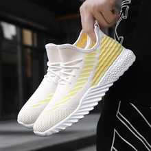 Men Shoes 2019 New Man Casual Fashion Sneakers Lace-up Vulcanize Comfortable Autumn Flat