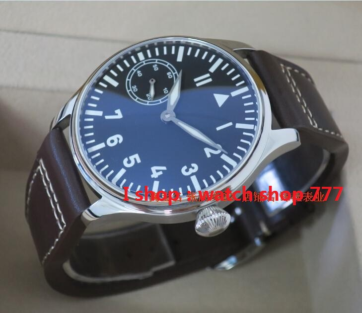 PARNIS big pilot ST3600/6497 gooseneck fine-tuning movement blue luminous watches mens watch wholesale