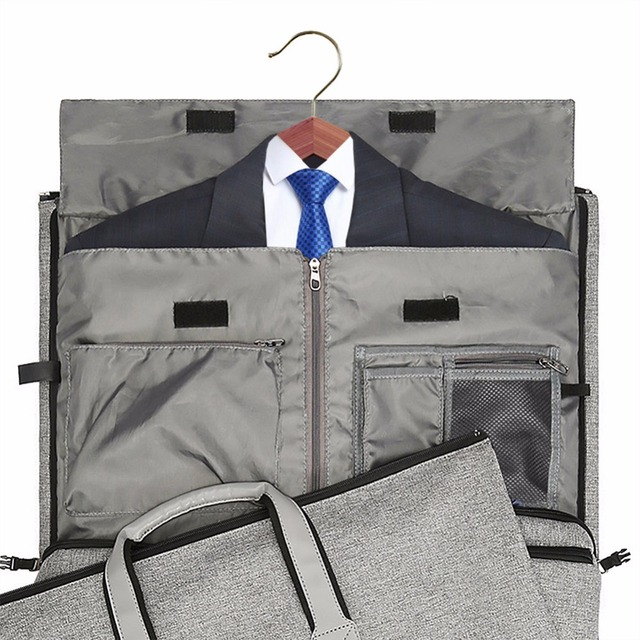 Travel Garment Bag with Shoulder Strap