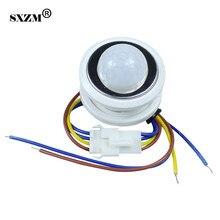 SXZM 1 шт. 40 мм ПИР Инфракрасных Лучей Датчик Движения Переключатель время задержки регулируется детектор режим переключения