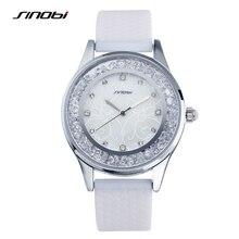 SINOBI Fashion Diamond Women Wrist Watches Silicone Watchband Ladies Geneva Quartz Clock Female Wristwatch Montres Femmes 2016