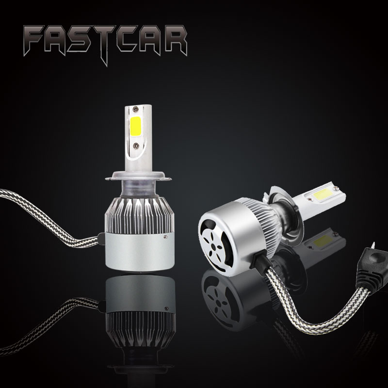 2 unids/set H7 LED Headlight 72 W 7600LM Auto Car LED Faros H7 Luz de Niebla del