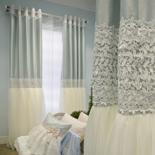 Romantic Korean Style Custom Made Luxury Princess Curtain High Quality Embroidery Gauze Curtains Living Room Cortinas with Lace