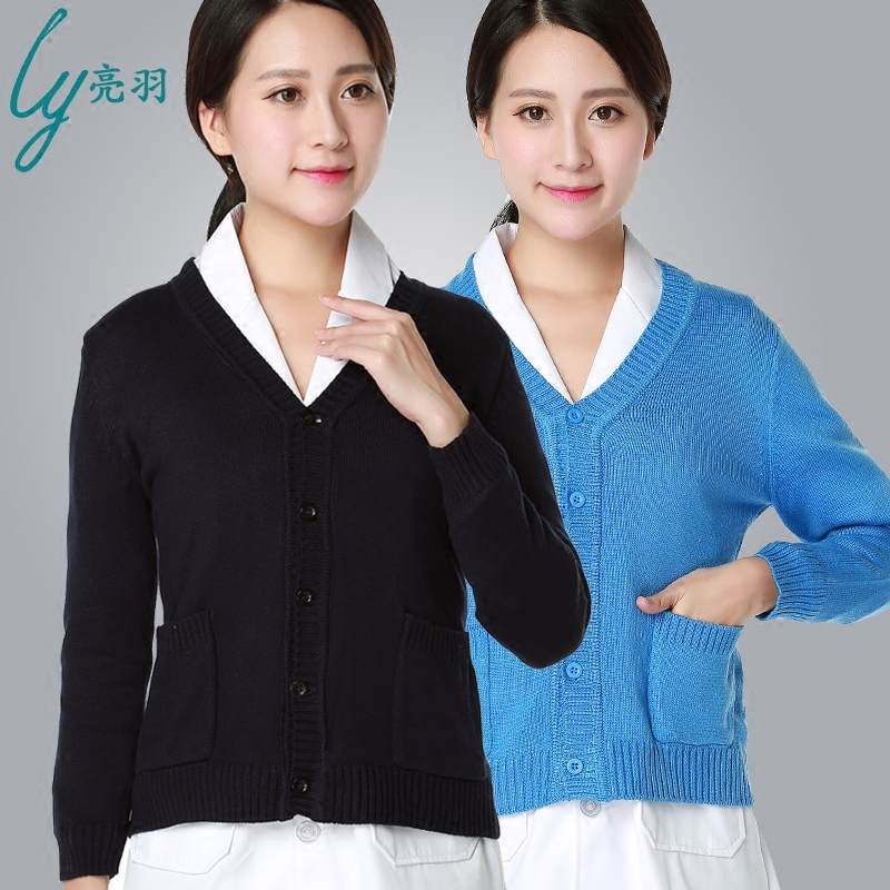 spring long sleeve fashion washable and durable scub suits scub medical unfiorm for women