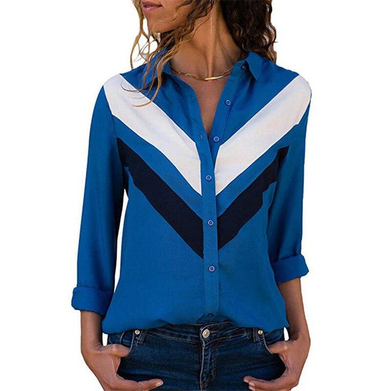 2019 Shirt Women Blusones De Mujer Largos Disney Shirts Long Sleeve Turn down Collar Office Chiffon Blouse Shirt Tops Plus Size in Blouses amp Shirts from Women 39 s Clothing