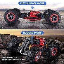 RC автомобиль 4WD грузовик масштаба Двусторонняя 2,4 г один ключ трансформации вездеход Varanid скалолазания автомобили удаленный Управление игрушечных автомобилей
