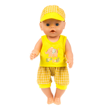 Hot Fashion Set Doll Clothes Fit For 43cm baby Doll clothes reborn Doll Accessories