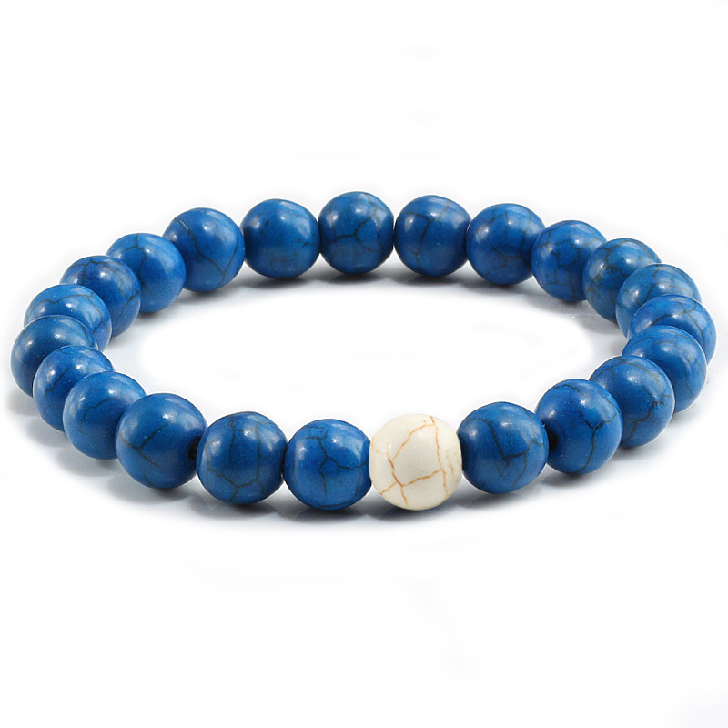 Couples Distance Bracelet Natural Stone Turquoises Mixed Color Beaded Bracelets For Men Women Best Friend Gift for him pulseira
