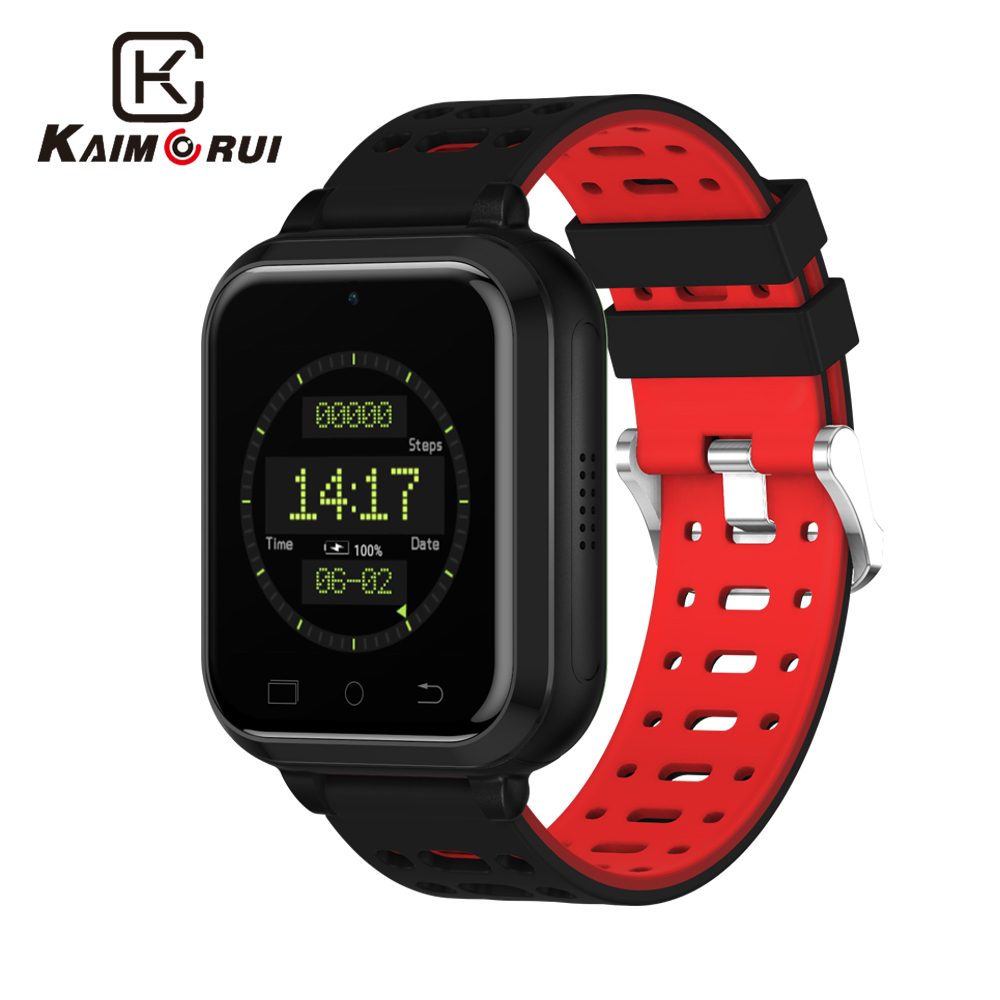 Kaimorui Smart Watch 4G Android 6.0 MTK6737 Bluetooth Smartwatch Heart Rate Tracker Pedometer Support SIM WIFI GPS Watch Men dm2018 smart watch android gps sports 4g smartwatch phone 1 54 inch bluetooth heart rate tracker monitor pedometer pk kw88 dm98