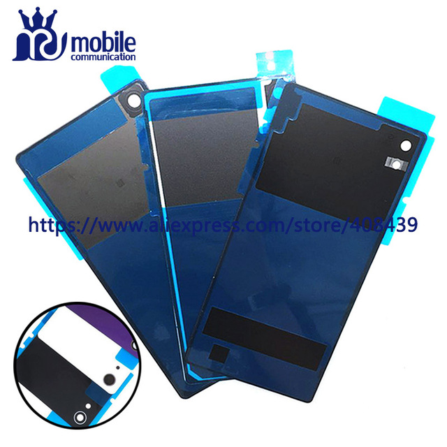 10pcs Rear Z2 Battery Back Cover For Sony Xperia Z2 L50w D6502 D6503 Battery Door Back Case Housing With Adhesive Sticker