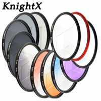 KnightX 49mm 52mm 58 MM 67 MM 72 MM 77 MM Schrittweise blau sky farbe FILTER UV FLD OBJEKTIV-FILTER für Canon EOS 1200D 750D 700D 600D Objektiv