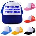 Logotipo o texto personalizado custom cap gorra de béisbol de impresión de transferencia de calor/de malla camionero snapback caps muti-color sin mínimo órdenes