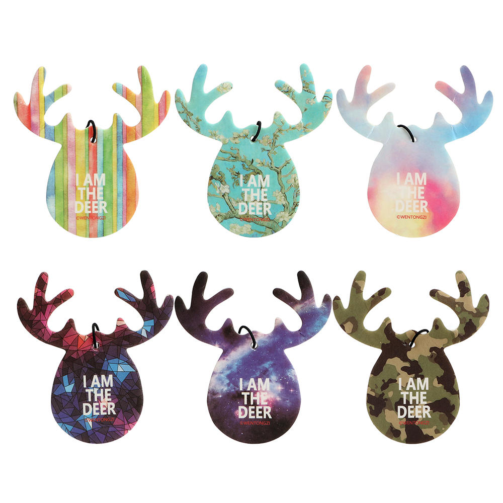 Interior Accessories Cheap Sale 1pc Christmas Car Pendant Air Freshener Car-styling Deer Shape Hanging Perfume Merry Christmas Gift Fragrance Decoration Automobiles & Motorcycles
