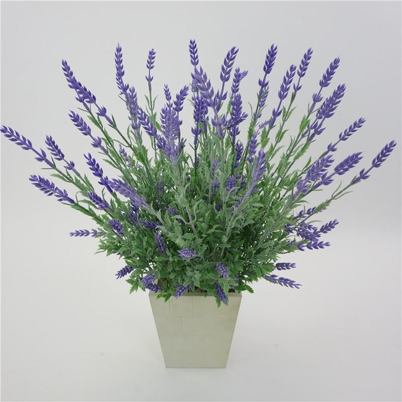 Искусственный цветок лаванды, шелковые искусственные цветы, искусственные растения, цветочные украшения для свадьбы, дома, сада, стола