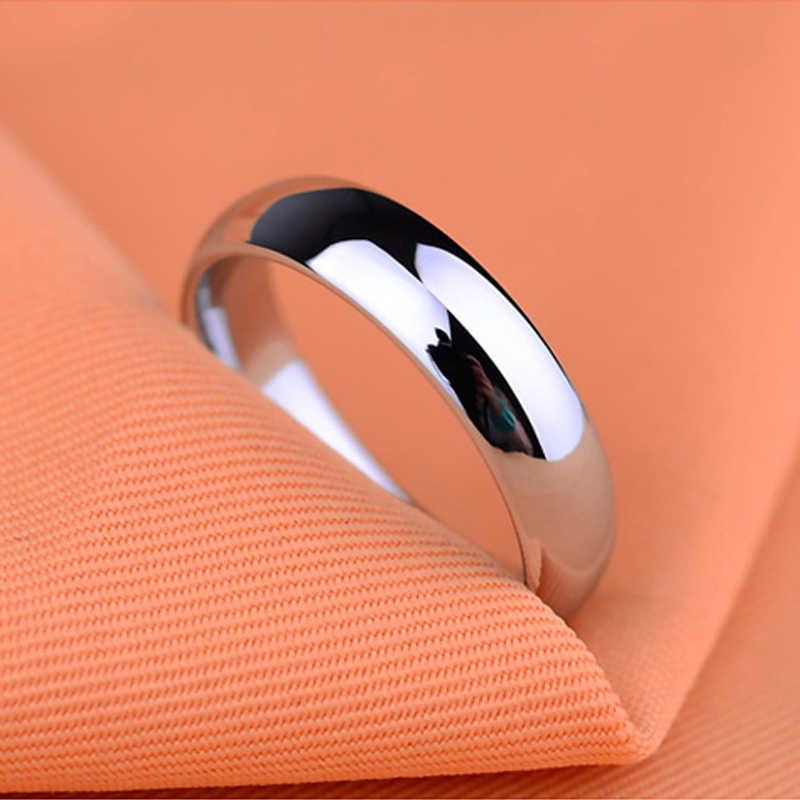 แฟชั่น 6mm Glossy Bright งานแต่งงานแหวนสำหรับชาย Naver Fade สแตนเลสหมั้นแหวนเครื่องประดับขายส่ง
