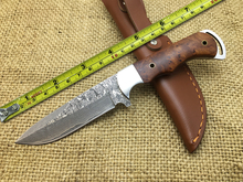 Free shipping!!!Damascus Blood Fox Fixed Blade Knife with Damascus Steel High Quality Steel Hunting Knife EDC Knife with
