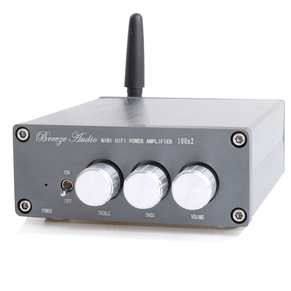 HIFI College HC100B Bluetooth Amplifier TPA3116D2 NE5532P Audio Digital Power Amplifier 100W*2 kguss hc502 50w 2 hifi tpa3116d2 power amplifier bluetooth 4 2 stereo mini digital amplifier