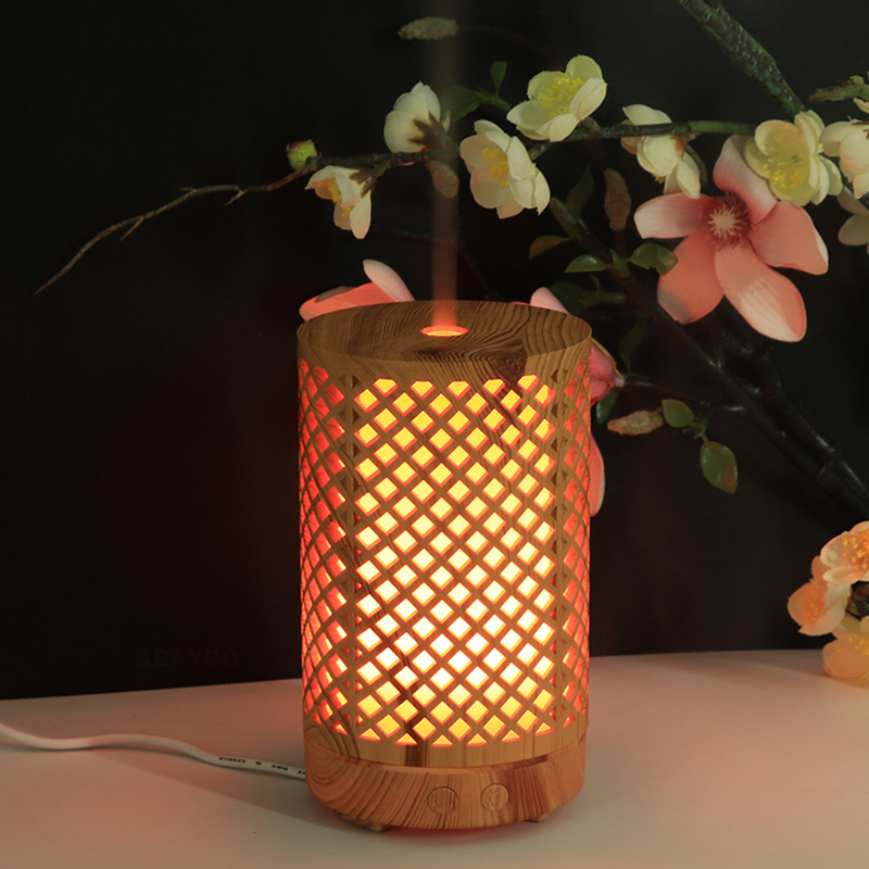 100ML Bamboo Air Humidifier Essential Oil Diffuser Aroma Lamp Aromatherapy Electric Aroma Diffuser Mist Maker