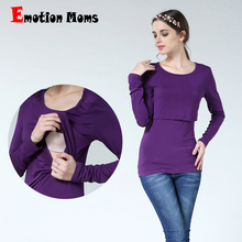 Emotion Moms New Maternity clothes Nursing Top Breastfeeding T-shirt pregnancy clothes for Pregnant Women Fashion Maternity Tops цена