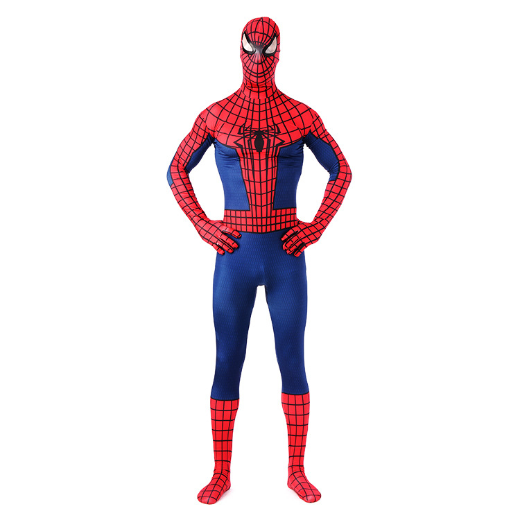Spiderman Cosplay Lycra Zentai Costumes Muscles Costume Custom Made Tights Adult Catsuit Men Spiderman Costumes New Kids