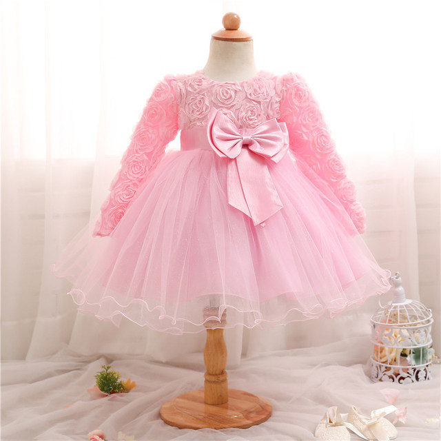 2580cdf7d Long Sleeve Baby Girls Dress Toddler Girls Party Dresses Infantil ...