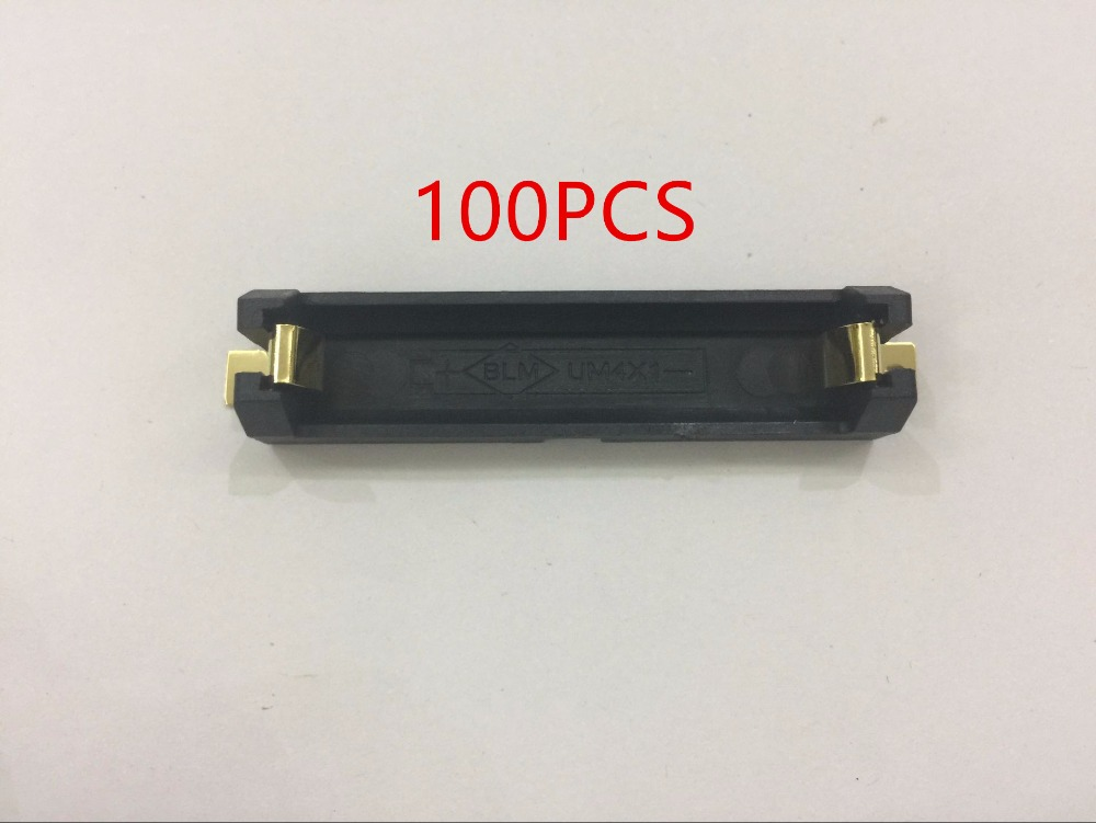 100Pcs Lot Single Side 1 AAA Battery Holder SMD SMT Battery Box With Bronze Pins For
