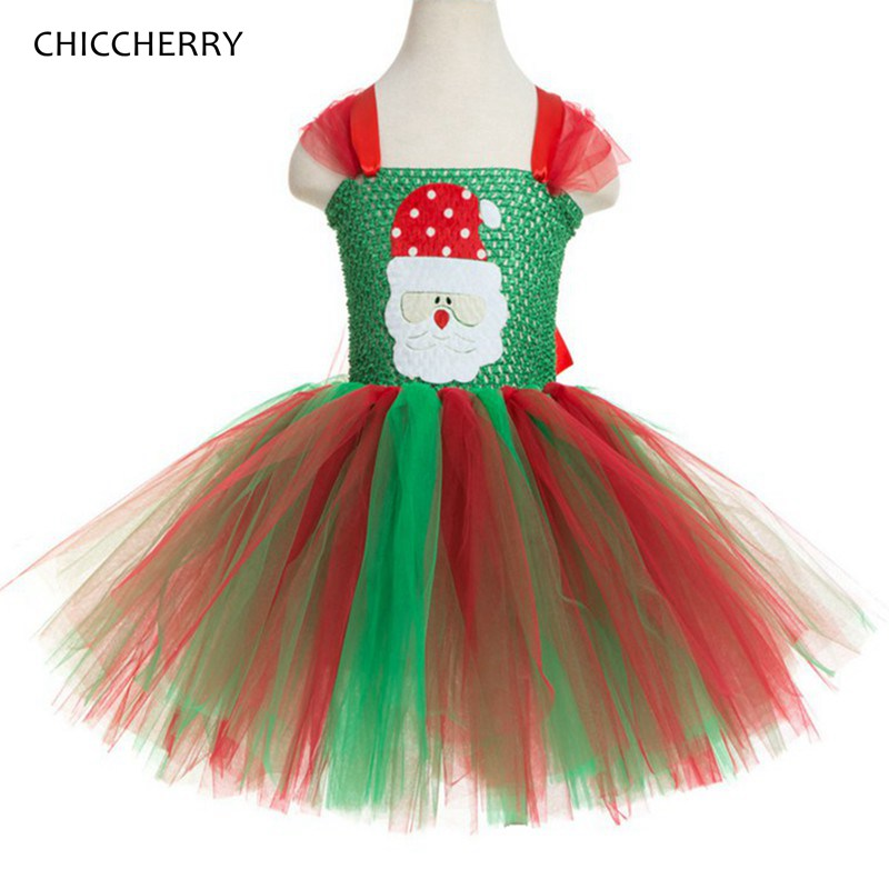 Santa Claus Baby Girl Clothes Christmas Costume One Piece Lace Tutu Kids Dresses For Girls Christmas Outfits Children Clothing