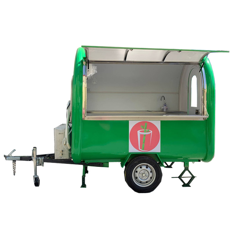 Summer Drink Ice Cream Light Green Color Mobile Food Carts/trailer/ Ice Cream Truck/snack With Logo And AC Free Shipping By Sea