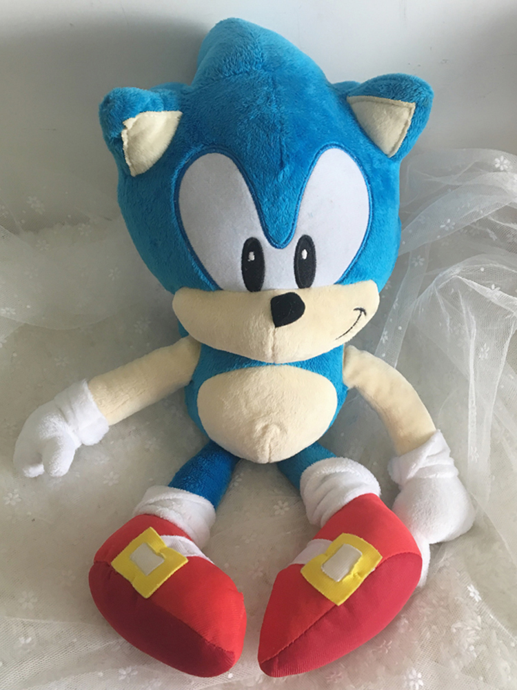 Plush-Toys Doll Hedgehog Gifts Sonic Anime Blue Baby-Boys Kids Cute Stuffed 40cm Big