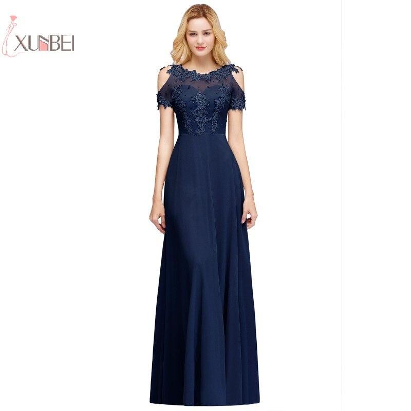2019 Chiffon Long   Prom     Dresses   Pearl Applique   Prom   Gown vestido de festa gala jurken
