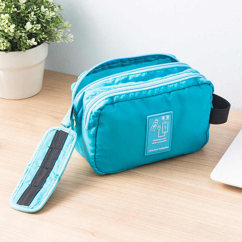 ORZ Travel Usb Charger Cable Organizer Storage Bag Waterproof Double Layer Storage Bag for Charging Cords Coeds Power Bank Pouch