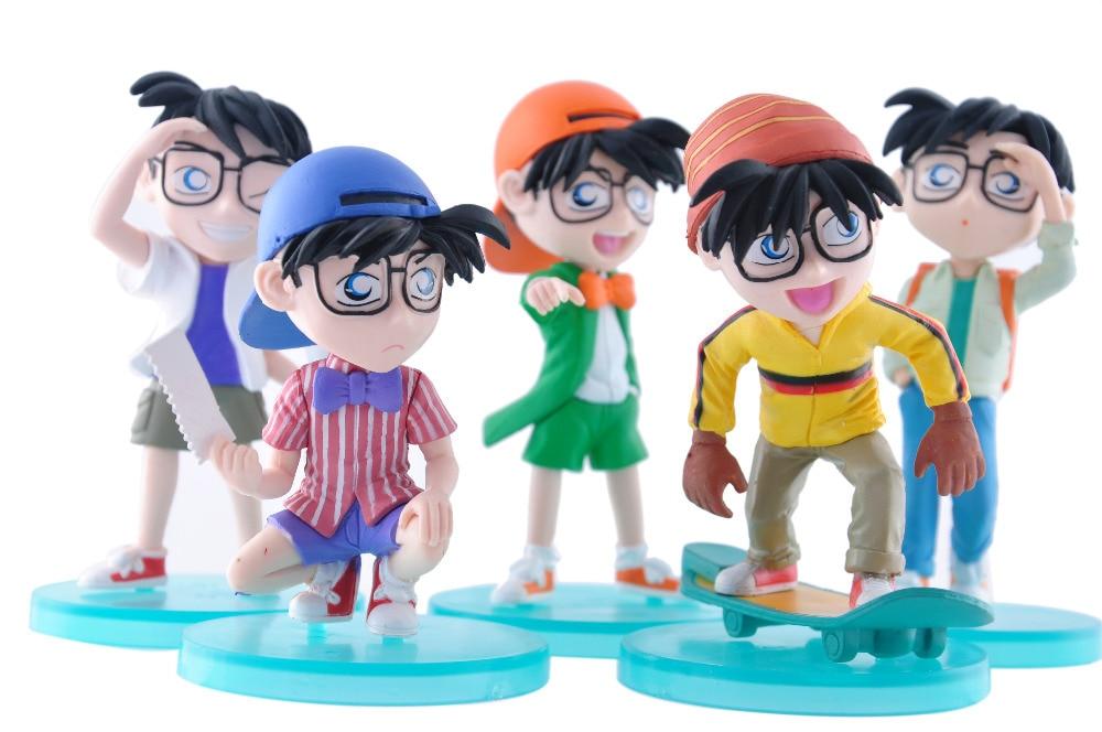 5 teile/satz Conan Action-figuren Anime PVC brinquedos Sammlung Figuren spielzeug AnnO00687H
