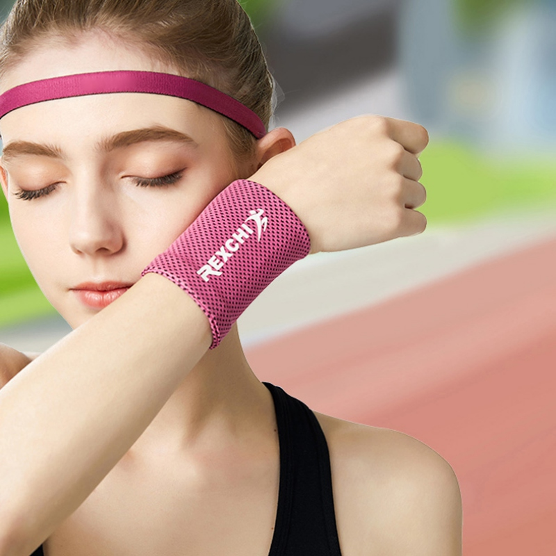 Wrist Brace Support Breathable Ice Cooling Sweat Band Tennis Wristband Wrap Sport Sweatband For Gym Yoga Volleyball Hand  Unisex 2