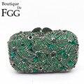 Gift Box Womens Rhinestones Clutch Purse In Evening Purses Bridal Wedding Dress Emerald Crystal Clutches Handbags Bolsa De Mano