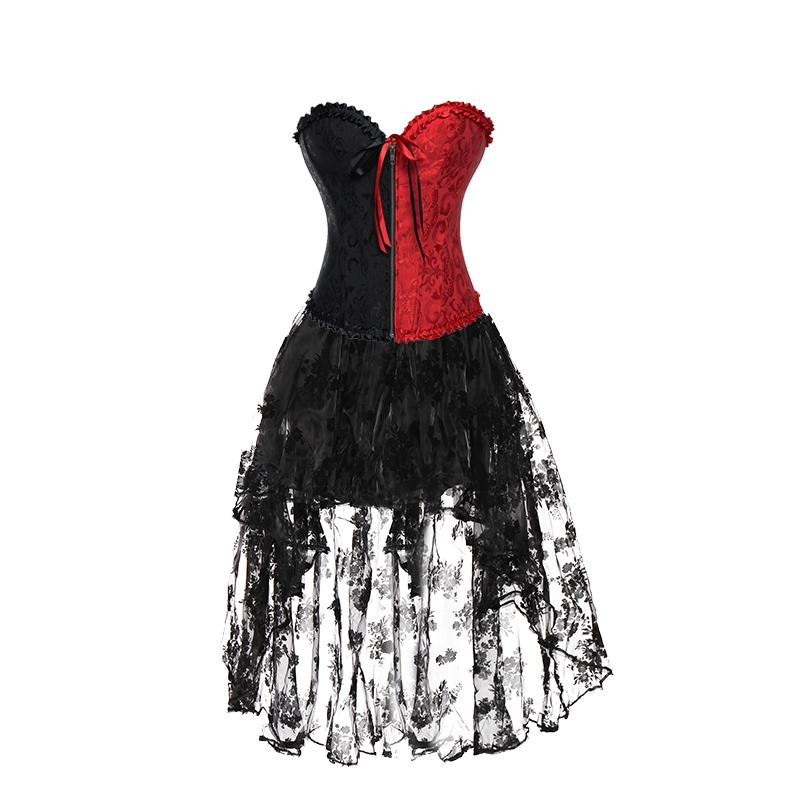 80e42f83e1542 Miss Moly Steampunk Corset Sexy Gothic Bustier Irregular Palace Style Dress  Slimming Burlesque Clothes Tutu skirt