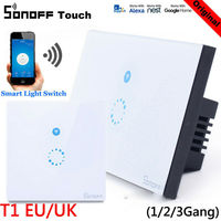 Sonoff 1 2 3 Gang Smart WiFi UK/EU Panel Touch Switch Wall Retome Control Light