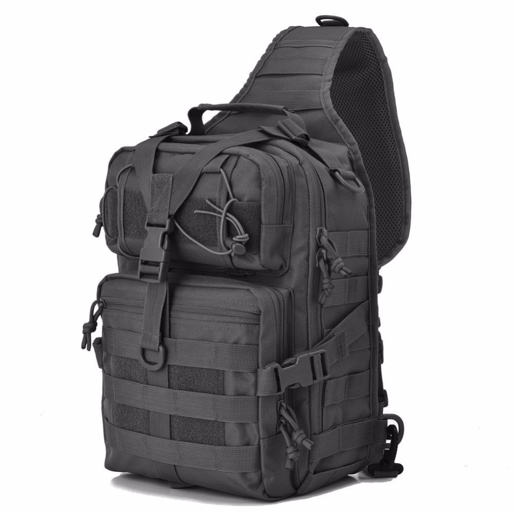 Military Tactical Assault Pack Sling Backpack Army Molle Waterproof EDC Rucksack Bag for Outdoor Hiking Camping Hunting 20L  military usmc army tactical molle rifle backpack hiking hunting camping travel rucksack roll pack gun storage fishing rode bag