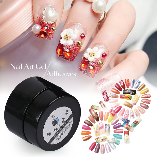 6g Nail Art Rhinestones Gel Glue UV Adhesives Super Sticky for DIY ...
