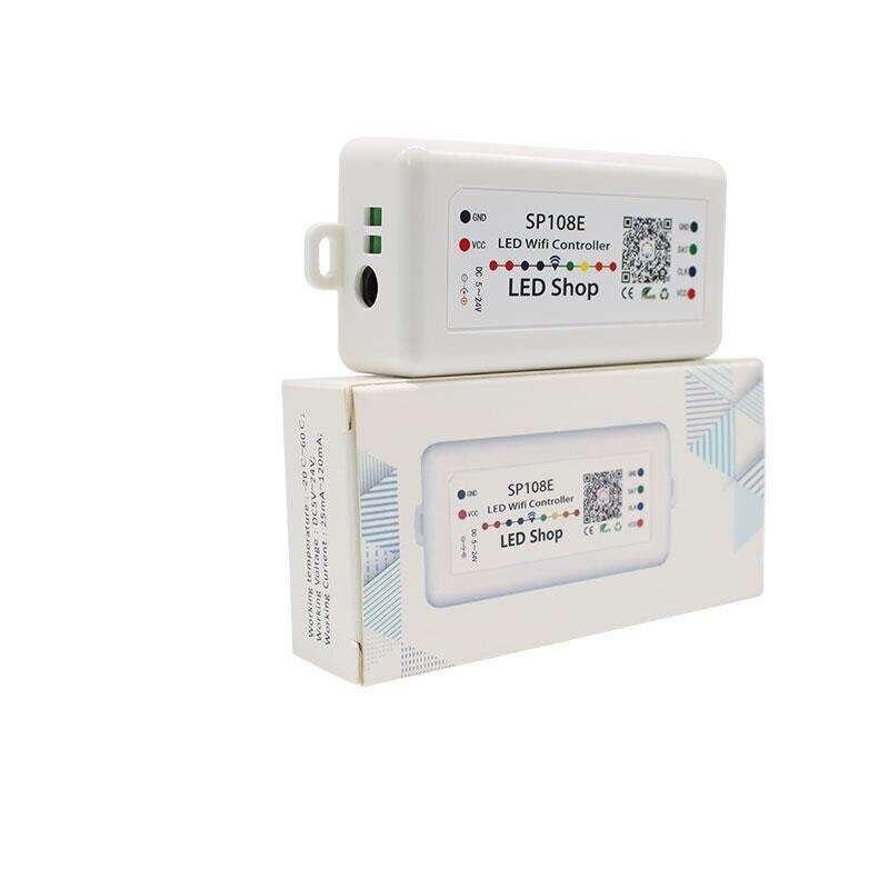SP108E WS2812B WS2811 WS2801 LEVOU Controlador WiFi, controle Remoto Sem Fio iOS Android App DC5V ~ 24 V SP108E para SK6812 SK6812-RGBW