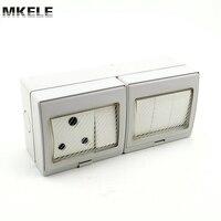 MK-SBSA4Sที่มีคุณภาพสูงราคาที่ดีที่สุดติดผนัง4แก๊งแสงสวิทช์ซ็อกเก็ต16A 250โวลต์ไฟฟ้ากล่องกันน้ำท...