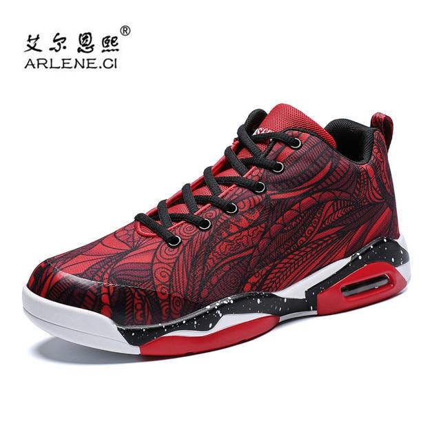 Cesta Homme 2018 Novos Tênis de basquete Para Os Homens Do Esporte Das Sapatilhas Das Mulheres Almofada de Ar Respirável Sapatos Casais Sapatos Plus Size 35 -47