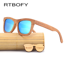 RTBOFY 2017 אופנה חדשה 100% נשים משקפי שמש גברים בעבודת יד במבוק עץ וינטג עיצוב מותג Gafas דה סול משקפי שמש מגניבים