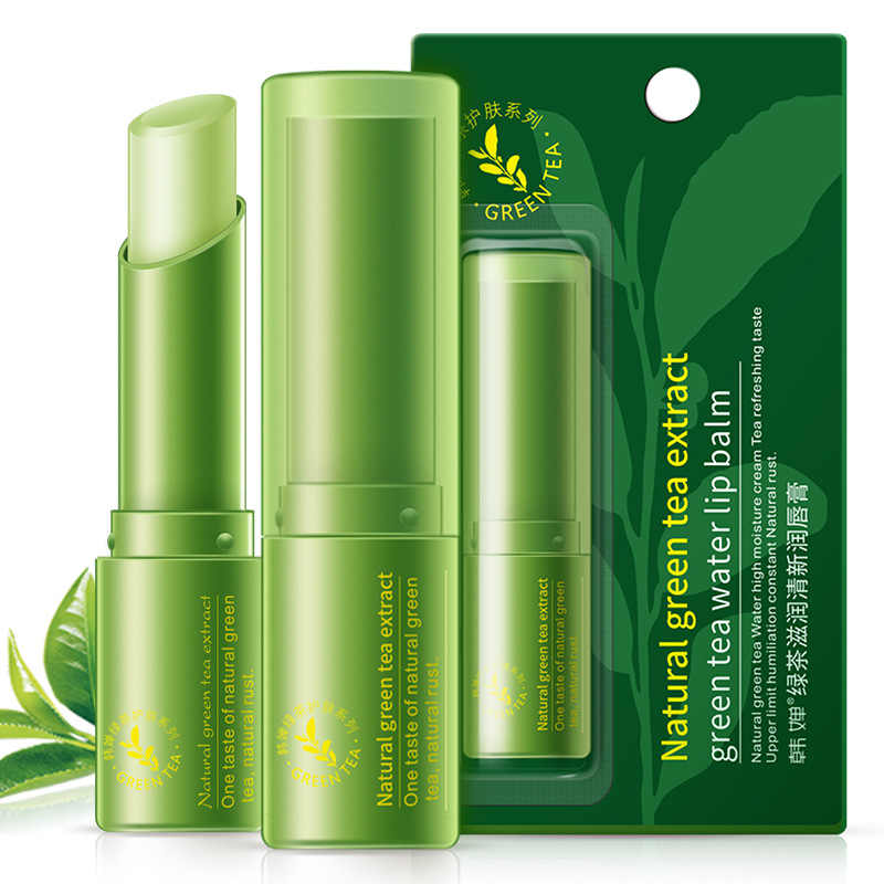 1 Pc Green Tea Natural Moisturizing Fresh Nutritious Makeup Lipstick Lips Care Protection Discolor Lip Balm Lip Improve TSLM2
