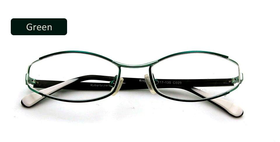 green frame glasses
