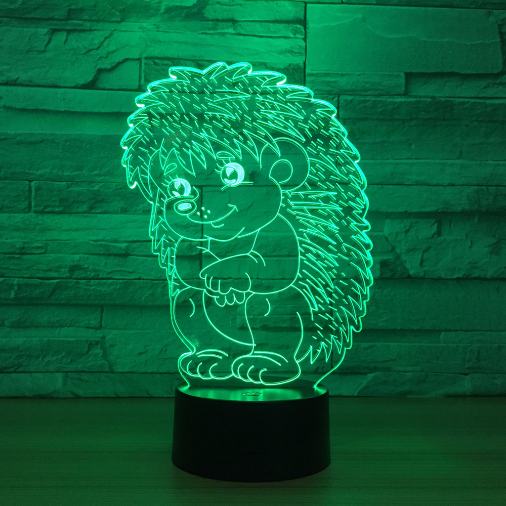 Toys & Hobbies Free Shipping Led Toys New Type Of Foreign Trade Sunbathing 7 Color 3d Lamp Led Acrylic Visual Lamp Creative Touch Illusion Lamp Last Style