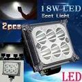 2pcs Super Bright 18W Car 4WD Truck Offroad SUV ATV Bar Boat 6 LED Work Light Headlight Driving Fog Spot Headlamp Night Lamp